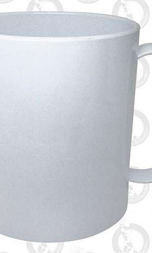 Caneca branca de plástico para sublimação