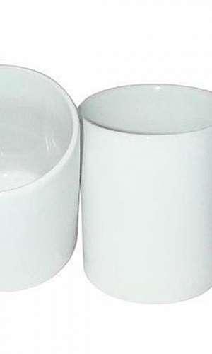 Caneca de porcelana branca para sublimação