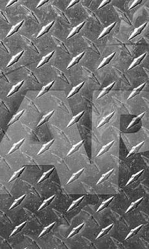 Chapa de aço tipo xadrez
