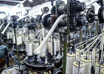 Cordão de algodão branco