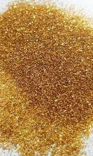 Glitter dourado para artesanato