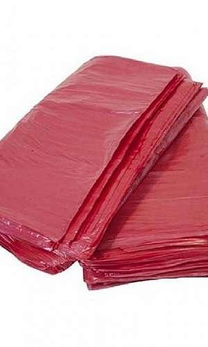 Saco lixo vermelho
